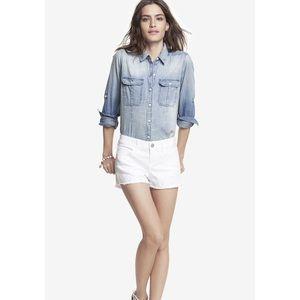 Express White Denim Shorts